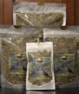 Herb Salad comes in vacuum sealed bags, with manufacturer seal. Twin Beaks guarantees satisfaction with their product. My birds love it! © COPYRIGHT 2017 Eddie's Aviary