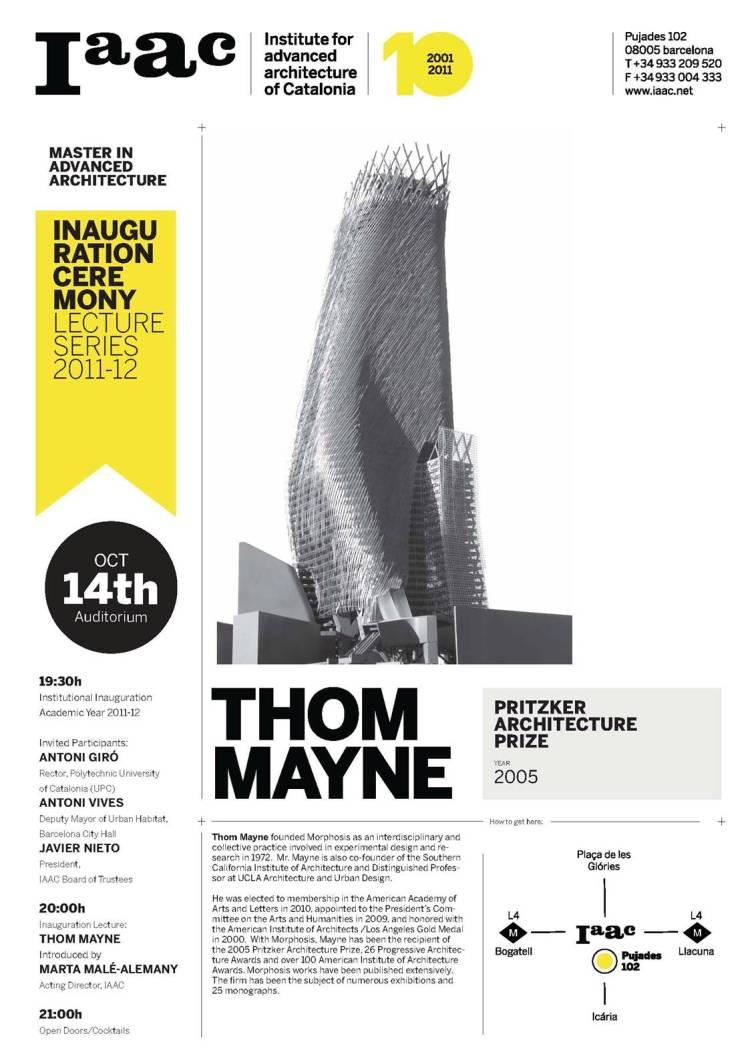 Thom Mayne en el IaaC