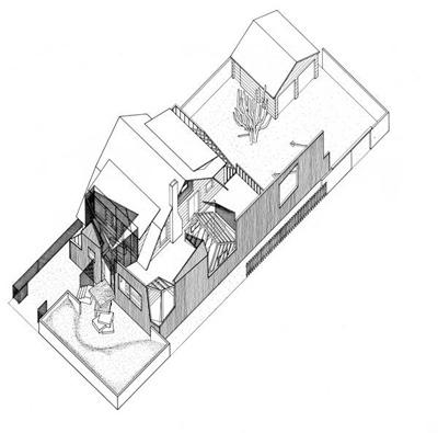Frank Gehry, Gehry Residence, Santa Monica, California, 1978. Axonometric_edgargonzalez