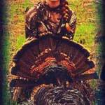 Jordon Baker, 13 years old with her first turkey. 16.5 lbs, double beard gobbler.