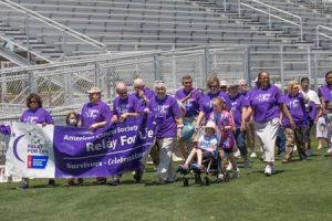 Survivors set the pace for the successful fundraising event on Saturday at the STHS Athletic Field.