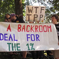 Activists no to the TPP