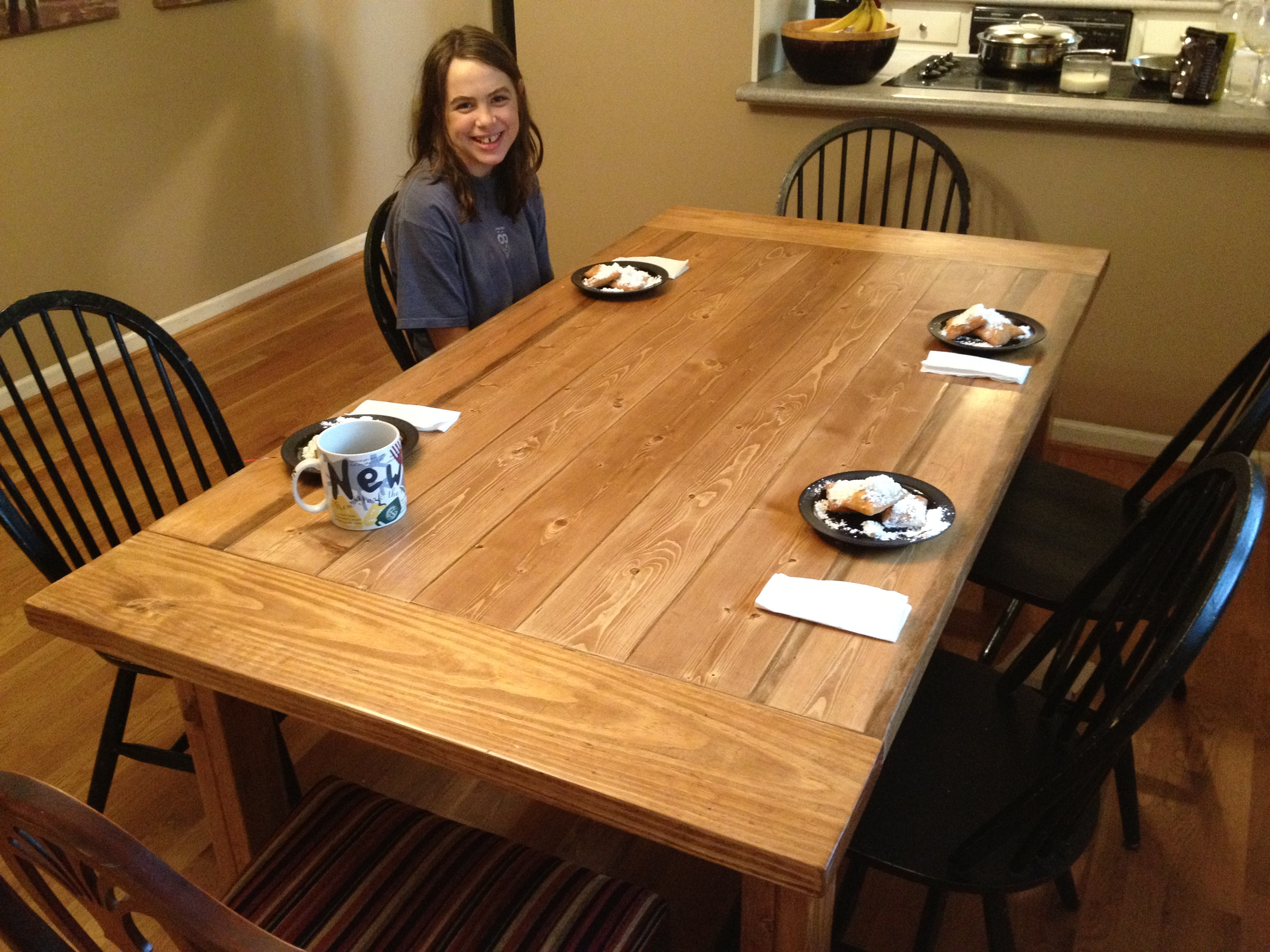 Free Plans For Making A Rustic Farmhouse Table Lesson