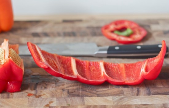How to slice a bell pepper