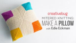 mitered knitting title card