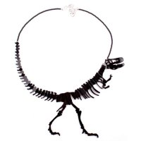 A Black T-Rex Skelaton which forms a necklace