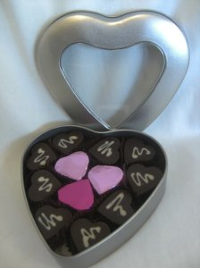 Chocolala Heart Shaped Tin