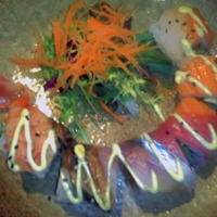 Rainbow roll from Tang's: salmon, eel and tuna.