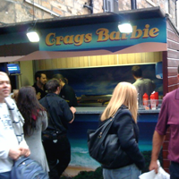Crags barbie at the Pleasance. Good when you're drunk.