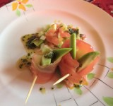 Salmon with Avocado and Cucumber