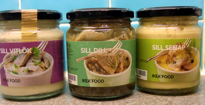 A selection of herring from Ikea