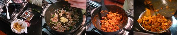 Making the Sauce - Cauliflower Masala
