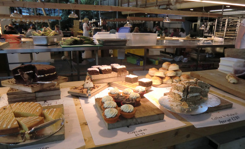 The cafe at the Eden Project