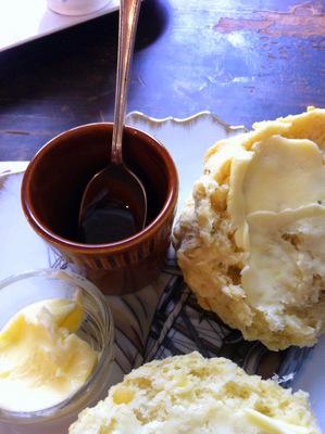 Savoury scones and Marmite
