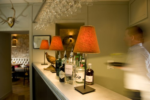 Interior of Stac Polly Gin Bar