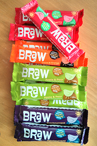 Brawbars have four flavours: strawberry, cocoa orange, apple and pear and blackcurrant.