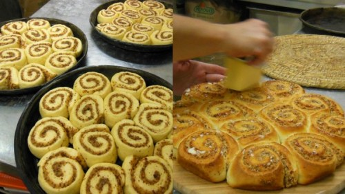 Sweet almond buns