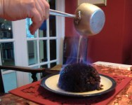 Flaming the Christmas Pudding