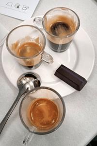 Three Nespressos and a chilli chocolate. Mmm.