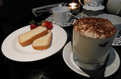 Cake of the day and deliciously light tiramisu - it really did pick ups up.