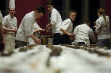 The heat is on. Final preparations for last year's feast. Photo courtesy of Institut Francais d'Ecosse