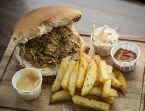 Luscious pulled pork. Copyright Brendan MacNeill