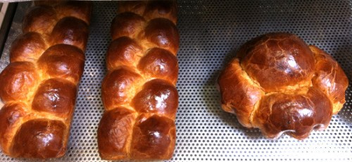 "Brioche dough: Nanterres on the left and ""big head"" on the right"