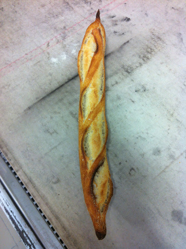 "Sourdough baguette that ""lacked volume"""