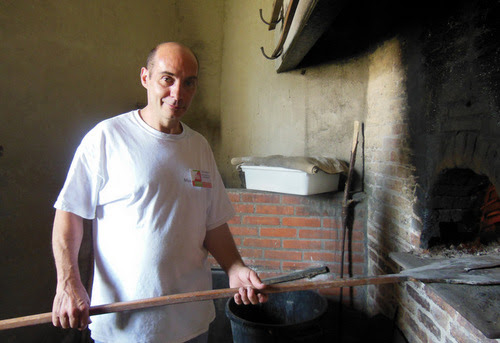 Baking in the wood fired oven