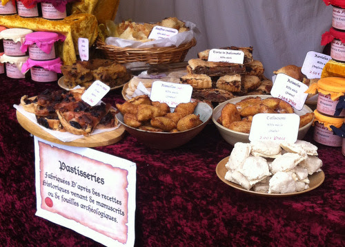 Medieval savoury and sweet dishes. An amazing range of foods all including plenty of spices which I of course, enjoyed.