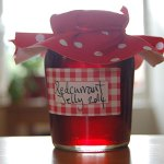 Redcurrant jelly: sweet, tart and tasting of summer.