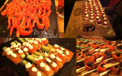 RR Spink Smoked trout and canapés