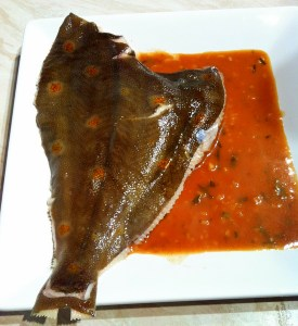 Ingredients for plaice sous vide