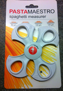 The easy to use spaghetti measurer from Pasta Maestro