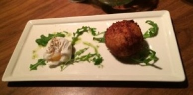 Isle of Mull crab cake. Off to a nice start.