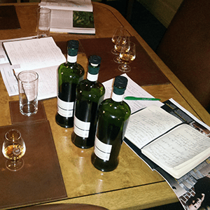 Before the guests arrive: notes and glasses.