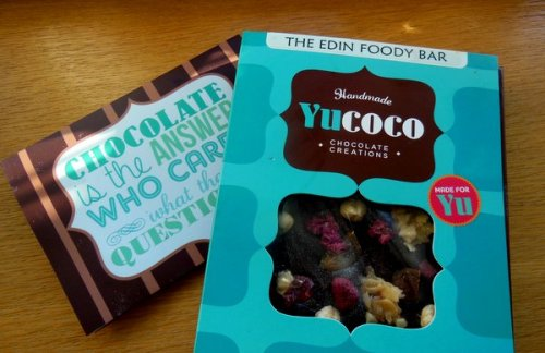 My personalised bar from Yucoco