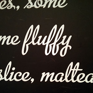 Fluffy. That's one of the words I'd use to describe the scones. Lovely is another.