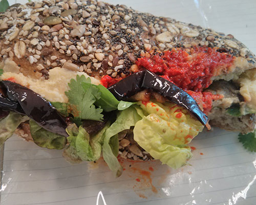 Soderberg's fennel salami roll is great, and so is the aubergine, harissa and hummus roll.