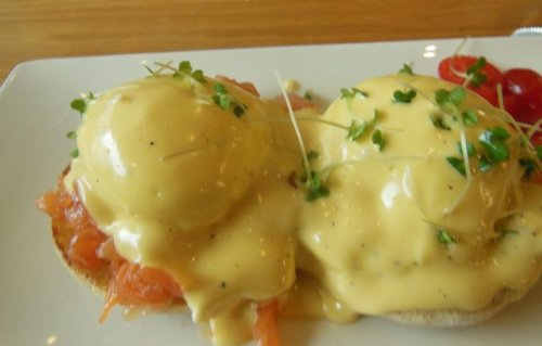 My Eggs Benedict with Smoked Salmon - Loudons