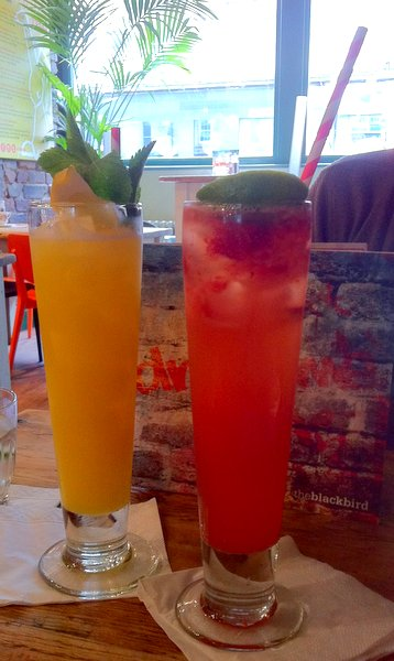 Our refreshing mocktails at the Blackbird