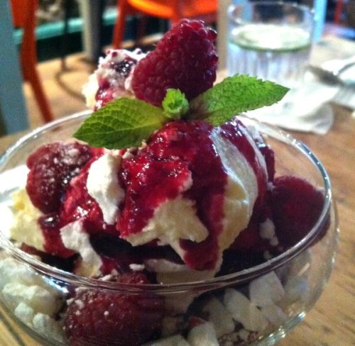 My glorious Eton Mess - raspberry heaven