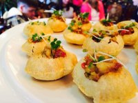 Similar to puri, these canapes were delicious