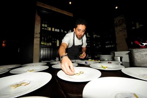 Lello Favuzzi plating up main course