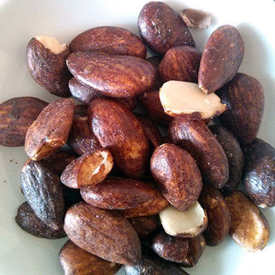 Tamari-coated almonds. Oh yes!
