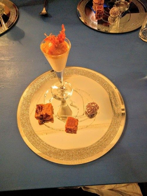 A great selection of puddings - clootie dumpling, toffee apple pannacotta, truffle, and tablet