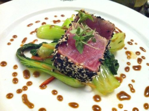 The standout dish - seared tuna mignon