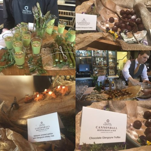Delicious canapes with a Glengoyne theme on offer at Cannonball bar launch