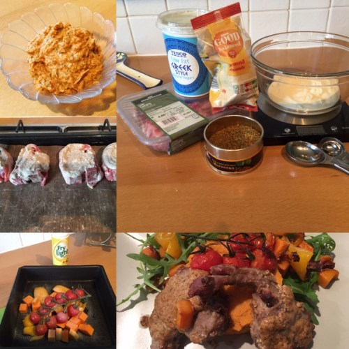 SImple ingredients go into making this Spicy Mediterranean Lamb mid-week supper
