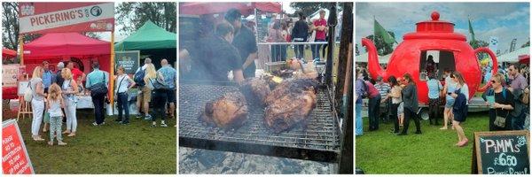 Gin, meat, Pimm's: summer in a nutshell? Foodies Festival, Edinburgh